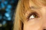 blond girls eye close up